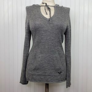 ROXY: Grey Tunic Sweater